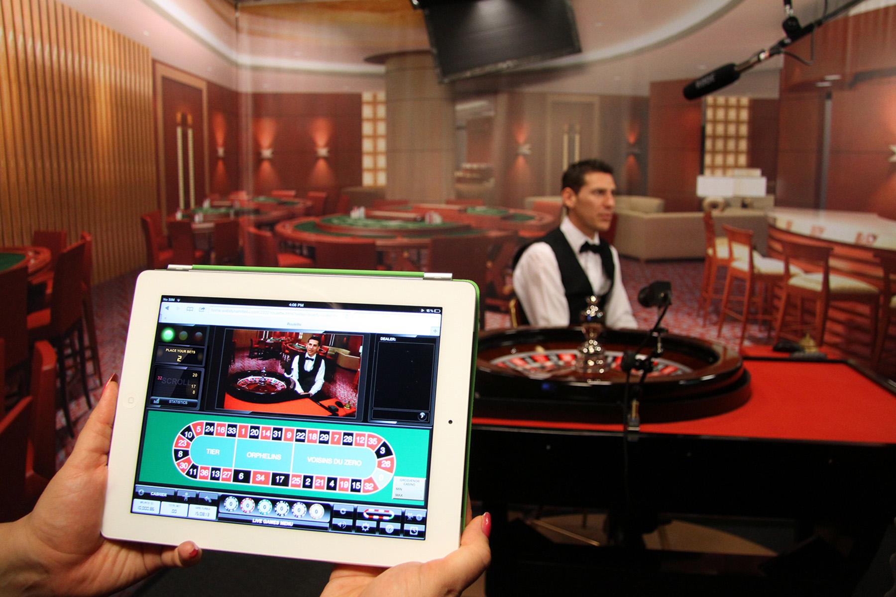 Live roulette tablet