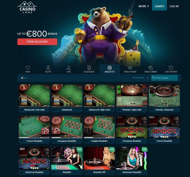 casino land roulette spellen